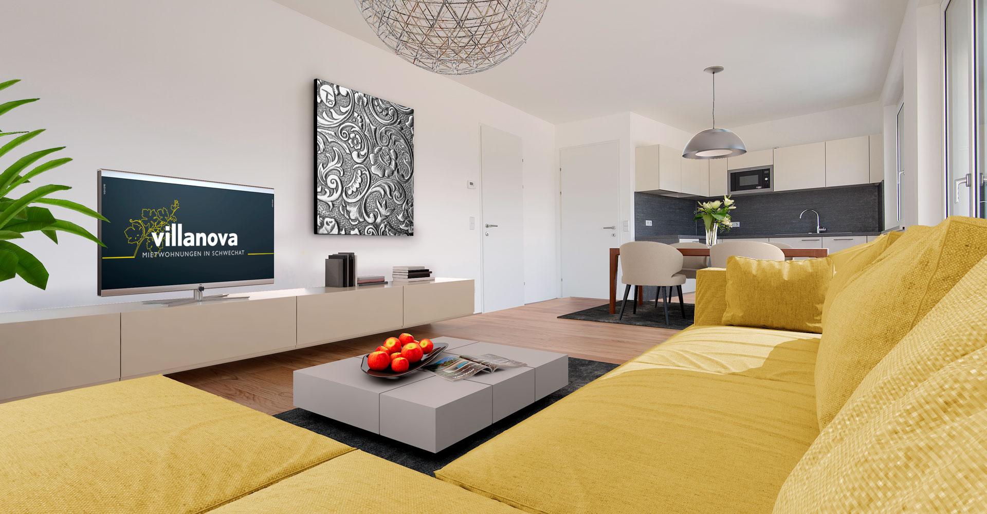 villanova - Wohnung mit Loggia / Balkon